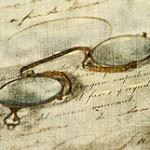 Glasses on a document