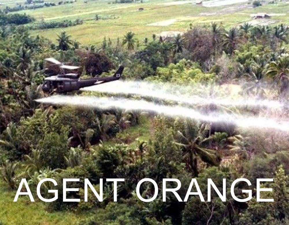 A plane dropping Agent Orange.